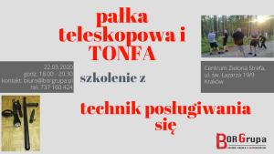 pałka, tonfa marzec 2020