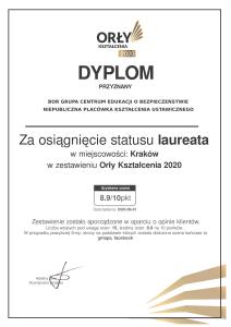 certyfikat orły